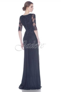 Jadore J7073 navy lace mesh gown navy only (1)
